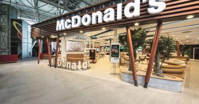 """Das neue McDonald's Flagship-Restaurant am Flughafen Frankfurt. Weiterer Text über ots und www.presseportal.de/pm/52942 / Die Verwendung dieses Bildes ist für redaktionelle Zwecke honorarfrei. Veröffentlichung bitte unter Quellenangabe: """"obs/McDonald's Deutschland"""""""