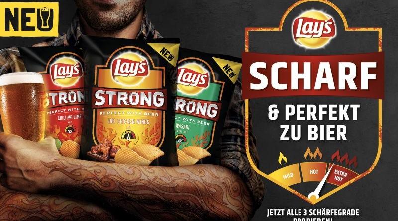 """Lay's Strong / Neue Produktplattform Lay's """"Strong"""" heizt dem Chips-Markt ein. Weiterer Text über ots und www.presseportal.de/nr/58045 / Die Verwendung dieses Bildes ist für redaktionelle Zwecke honorarfrei. Veröffentlichung bitte unter Quellenangabe: """"obs/PepsiCo Deutschland GmbH"""""""