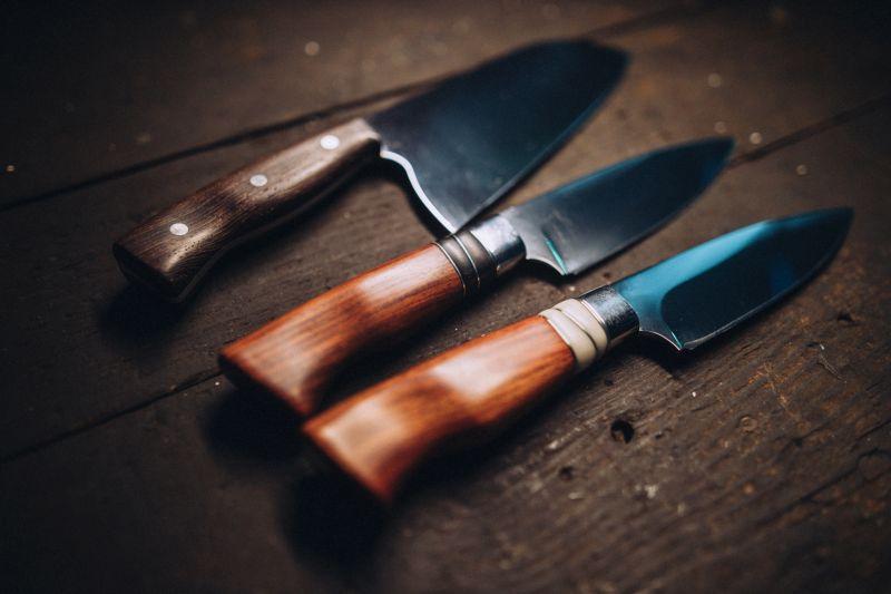 Ukázka kuchyňských nožů Jaroslava Novotnéhow